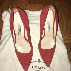 Prada red shoes